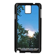 Coming Sunset Accented Edges Samsung Galaxy Note 3 N9005 Case (black)