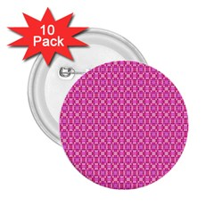 Pink Kaleidoscope 2.25  Button (10 pack)