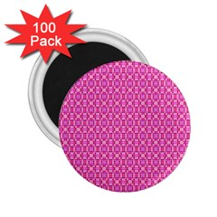 Pink Kaleidoscope 2 25  Button Magnet (100 Pack)