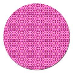 Pink Kaleidoscope Magnet 5  (round)
