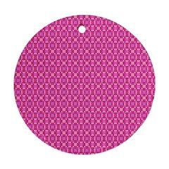Pink Kaleidoscope Round Ornament (two Sides)
