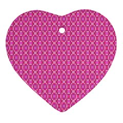 Pink Kaleidoscope Heart Ornament (Two Sides)