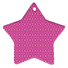 Pink Kaleidoscope Star Ornament (Two Sides)