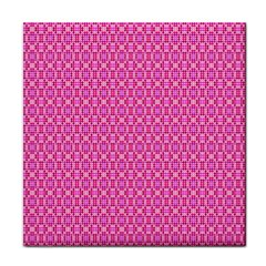 Pink Kaleidoscope Face Towel