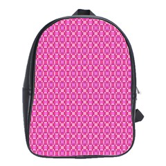 Pink Kaleidoscope School Bag (Large)