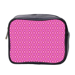Pink Kaleidoscope Mini Travel Toiletry Bag (two Sides)