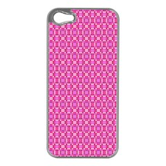 Pink Kaleidoscope Apple iPhone 5 Case (Silver)