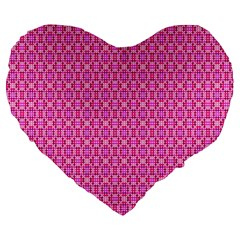 Pink Kaleidoscope 19  Premium Heart Shape Cushion