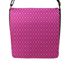 Pink Kaleidoscope Flap Closure Messenger Bag (large)