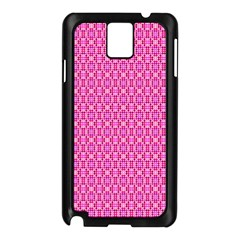 Pink Kaleidoscope Samsung Galaxy Note 3 N9005 Case (Black)