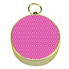 Pink Kaleidoscope Gold Compass