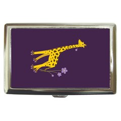 Purple Roller Skating Cute Cartoon Giraffe Cigarette Money Case