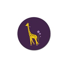 Purple Roller Skating Cute Cartoon Giraffe Golf Ball Marker