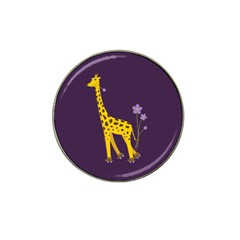 Purple Roller Skating Cute Cartoon Giraffe Golf Ball Marker 10 Pack (for Hat Clip)