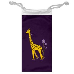 Purple Roller Skating Cute Cartoon Giraffe Jewelry Bag