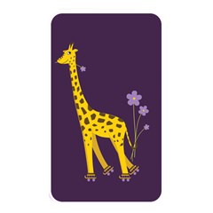 Purple Roller Skating Cute Cartoon Giraffe Memory Card Reader (Rectangular)
