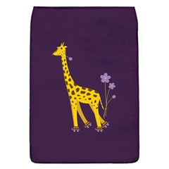 Purple Roller Skating Cute Cartoon Giraffe Removable Flap Cover (Large)