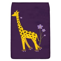 Purple Roller Skating Cute Cartoon Giraffe Removable Flap Cover (small)