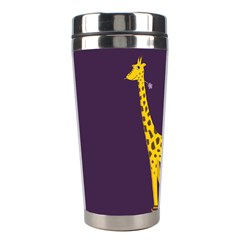 Purple Roller Skating Cute Cartoon Giraffe Stainless Steel Travel Tumbler