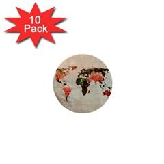Vintageworldmap1200 1  Mini Button (10 pack)
