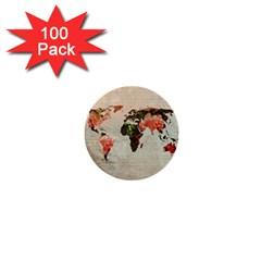 Vintageworldmap1200 1  Mini Button (100 pack)
