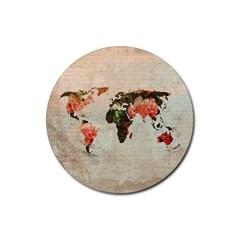 Vintageworldmap1200 Drink Coaster (Round)