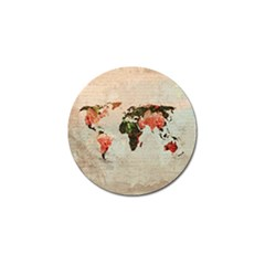 Vintageworldmap1200 Golf Ball Marker 4 Pack