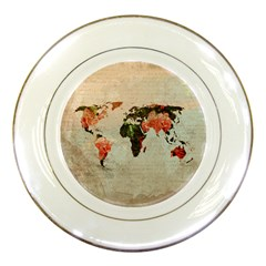 Vintageworldmap1200 Porcelain Display Plate