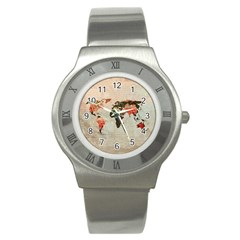 Vintageworldmap1200 Stainless Steel Watch (slim)