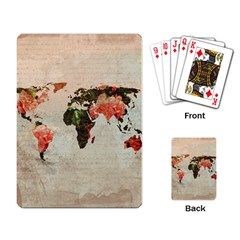 Vintageworldmap1200 Playing Cards Single Design