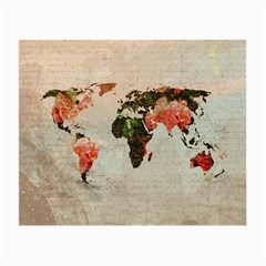 Vintageworldmap1200 Glasses Cloth (small, Two Sided)