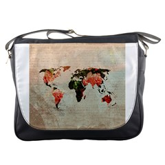Vintageworldmap1200 Messenger Bag