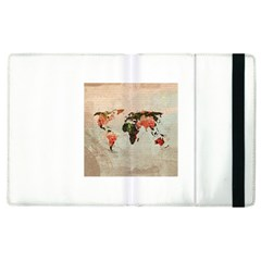 Vintageworldmap1200 Apple iPad 3/4 Flip Case