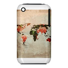 Vintageworldmap1200 Apple iPhone 3G/3GS Hardshell Case (PC+Silicone)