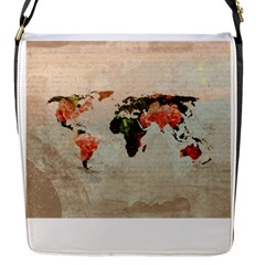 Vintageworldmap1200 Flap Closure Messenger Bag (small)