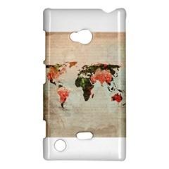 Vintageworldmap1200 Nokia Lumia 720 Hardshell Case
