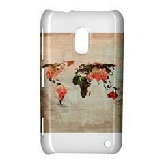 Vintageworldmap1200 Nokia Lumia 620 Hardshell Case