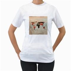 Vintageworldmap1200 Women s T Shirt (white)
