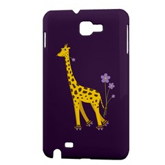 Purple Cute Cartoon Giraffe Samsung Galaxy Note 1 Hardshell Case