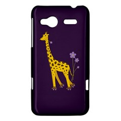 Purple Cute Cartoon Giraffe HTC Radar Hardshell Case