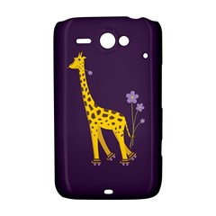 Purple Cute Cartoon Giraffe HTC ChaCha / HTC Status Hardshell Case