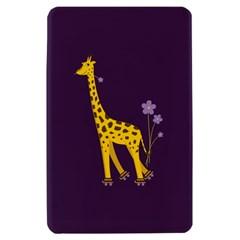 Purple Cute Cartoon Giraffe Kindle Fire (1st Gen 2011) Hardshell Case