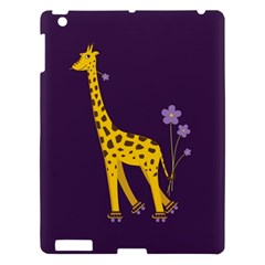 Purple Cute Cartoon Giraffe Apple iPad 3/4 Hardshell Case