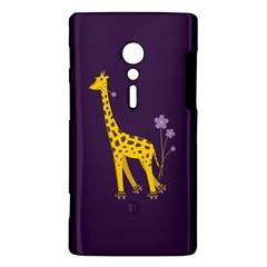 Purple Cute Cartoon Giraffe Sony Xperia ion Hardshell Case