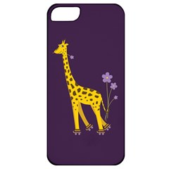 Purple Cute Cartoon Giraffe Apple Iphone 5 Classic Hardshell Case