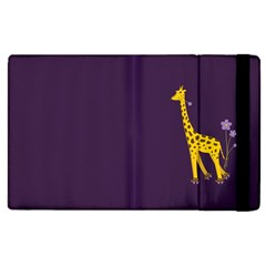 Purple Cute Cartoon Giraffe Apple iPad 3/4 Flip Case