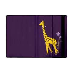 Purple Cute Cartoon Giraffe Apple iPad Mini Flip Case