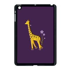 Purple Cute Cartoon Giraffe Apple Ipad Mini Case (black)