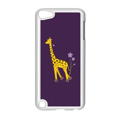 Purple Cute Cartoon Giraffe Apple Ipod Touch 5 Case (white)