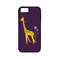 Purple Cute Cartoon Giraffe Apple iPhone 5 Classic Hardshell Case (PC+Silicone)